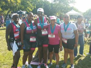 Left to right Roz Kelley, Debra Smith, Terrell Holliman, Maisha Amen and yours truly after we finished.